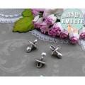 Подвеска для изготовления бижутерии ScrupBerry's Пустышка цвет: античное серебро 1шт