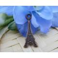 Подвеска для изготовления бижутерии ScrupBerry's Эйфелева башня цвет: античная медь 1шт