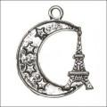 Подвеска для изготовления бижутерии Эйфелева башня цвет: античное серебро 1шт