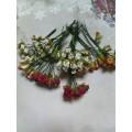 """Набор декоративных бумажных цветов мелких """"Розы"""" цвет: белый 12шт"""