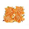 Набор бумажных цветов Гардении 7см цвет: оранжевый 4шт