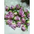 Декоративная головка цветка Роза цвет: желто-розовый 1шт
