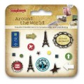 Набор брадсов ScrupBerry`s металлических Around the World арт.SCB340918