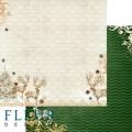 "Бумага для скрапбукинга Fleur колекция ""Ожидание праздника"" двусторонняя 30,5х30,5см 190гр/кв.м 1лист"