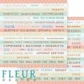 "Бумага для скрапбукинга Fleur колекция ""Следуй за мечтой"" двусторонняя 30,5х30,5см 190гр/кв.м 1лист"