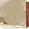 "Бумага для скрапбукинга Fleur коллекция ""Крафтовая зима"" двусторонняя 30,5х30,5см 190гр/кв.м. 1 лист"