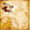 """Бумага для скрапбукинга ТМ Рукоделие коллекция """"Розы"""" 30,5х30,5см 180гр/кв.м. 1 лист"""