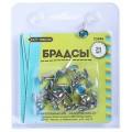 Набор брадсов Craft Premier металлических с синим камнем арт.23446 24шт