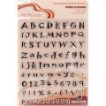 Набор силиконовых штампов mr.Painter Алфавит латинский №1 арт.ASM-01 14х18см