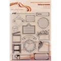 Набор силиконовых штампов mr.Painter Журналинг №1 арт.ASM-25 14х18см