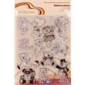 """Набор силиконовых штампов mr.Painter """"Мишки №1"""" арт.ASM-13 14х18см"""