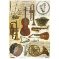 Декупажная карта рисовая Craft Premier A3 Музыкальные инструменты арт.CP04266 25гр/м 1шт