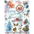 Декупажная карта рисовая Craft Premier A3 Новогодняя открытка арт.CP08708 25гр/м 1шт