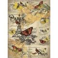 Декупажная карта рисовая Craft Premier A3 Открытка из Парижа арт.CP03550 25гр/м 1шт