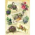 Декупажная карта рисовая Craft Premier A3 Садовые цветы арт.CP05479 25гр/м 1шт