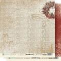 "Бумага для скрапбукинга Fleur колекция ""Крафтовая зима"" двусторонняя 30,5х30,5см 190гр/кв.м 1лист"