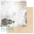 """Бумага для скрапбукинга Fleur колекция """"Течение времени"""" двусторонняя 30,5х30,5см 190гр/кв.м 1лист"""