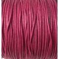 Вощеный шнур толщина: 1мм цвет: бордовый 1м