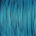 Вощеный шнур толщина: 1мм цвет: голубой 1м