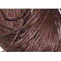 Вощеный шнур толщина: 1мм цвет: коричневый 1м