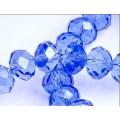 Хрустальная бусина-рондель имитация сваровски 8х6мм цвет: прозрачный синий 1шт