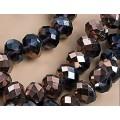 Хрустальная бусина-рондель имитация сваровски 8х6мм цвет: дымчатый с радужным покрытием 1шт