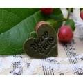Подвеска для изготовления бижутерии Сердце Mezzo piano цвет: античная бронза 1шт