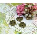 Подвеска для изготовления бижутерии Сердце с цветами цвет: бронза 1шт