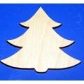 Заготовка для декупажа дерево Ёлка с магнитом высота: 5см