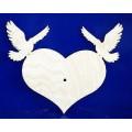Заготовка для декупажа дерево Циферблат Любовь и голуби