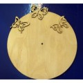 Заготовка для декупажа дерево Циферблат с бабочками D30см