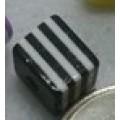 Бусина пластик куб цвет: черный 1шт