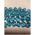 Бусина стекло D6мм цвет: голубой 1шт