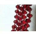 Бусина стекло D6мм цвет: красный 1шт