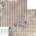 "Бумага для скрапбукинга Fleur колекция ""Механика"" двусторонняя 30,5х30,5см 190гр/кв.м 1лист"