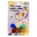 Набор красок Аква Колор акриловых перламутровых 6 цветов