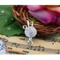 Подвеска для изготовления бижутерии Клубок цвет: серебро 1шт
