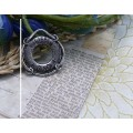 Подвеска для изготовления бижутерии Спасательный круг 24х22х2мм цвет: античное серебро 1шт