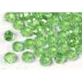 Бусина стекло рондель D8мм цвет: зеленый 1шт