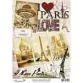 Декупажная карта Freedecor А4 Любимый Париж 70гр./кв.м 1шт