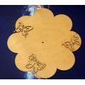 Заготовка для декупажа дерево Циферблат Бабочки D24см