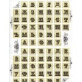Декупажная карта Cheap Art А4 Алфавит арт.CH0840 40гр./кв.м 1шт