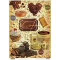Декупажная карта рисовая Craft Premier 28,2х38,4 Кофе с шоколадом арт.CP04365 25гр./кв.м.
