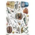 Декупажная карта рисовая Craft Premier 28,2х38,4 Рыбалка арт.CP04143 25гр./кв.м.