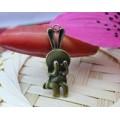 Подвеска для изготовления бижутерии ScrupBerry's Плачущий заяц цвет: медь 1шт