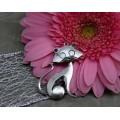 Подвеска для изготовления бижутерии ScrupBerry's Кошка цвет: античное серебро 1шт