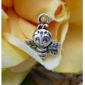 Подвеска для изготовления бижутерии ScrupBerry's Пчелка цвет: античное серебро 1шт