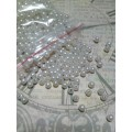Бусина пластик цвет: серебро D3мм 1 пакет