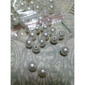 Бусина пластик цвет: серебро D8мм 1 пакет