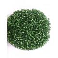 Бисер пр-во Китай цвет: зеленый с серебрянной вставкой 100гр